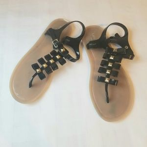 KATE SPADE BOW JELLY THONG SANDALS SIZE 9